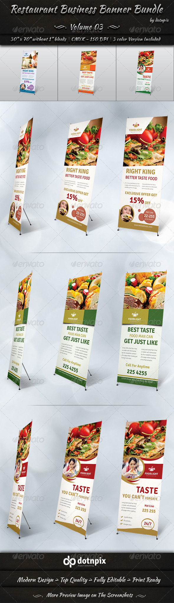 GraphicRiver Restaurant Business Banner Bundle Volume 3 8124350