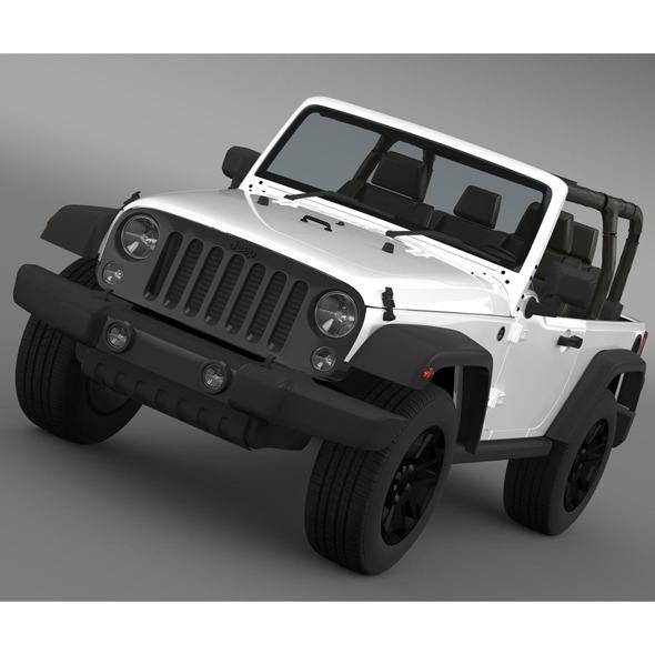 3DOcean Jeep Wrangler Willys 2014 8124361