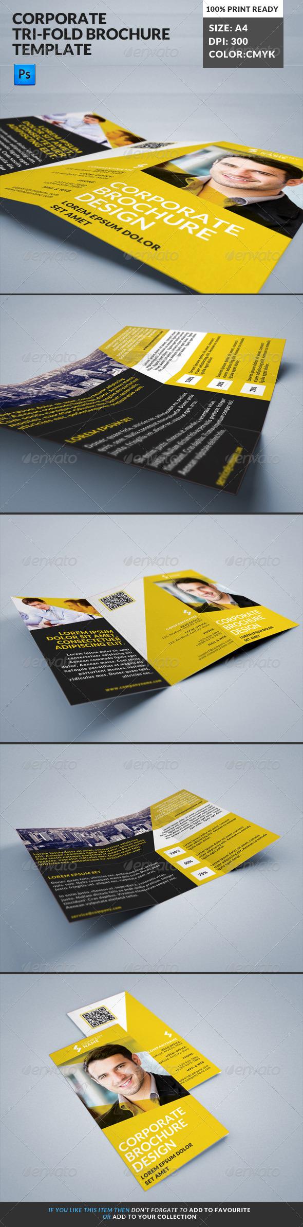 GraphicRiver Corporate Tri-Fold Brochures Template 12 8124365