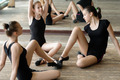 Three ballet dancers on the floor - PhotoDune Item for Sale