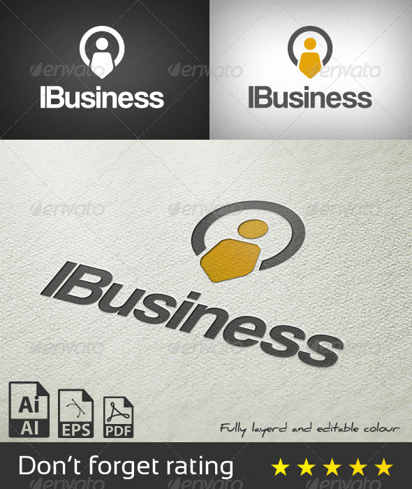 GraphicRiver IBusiness Logo Template 8124586