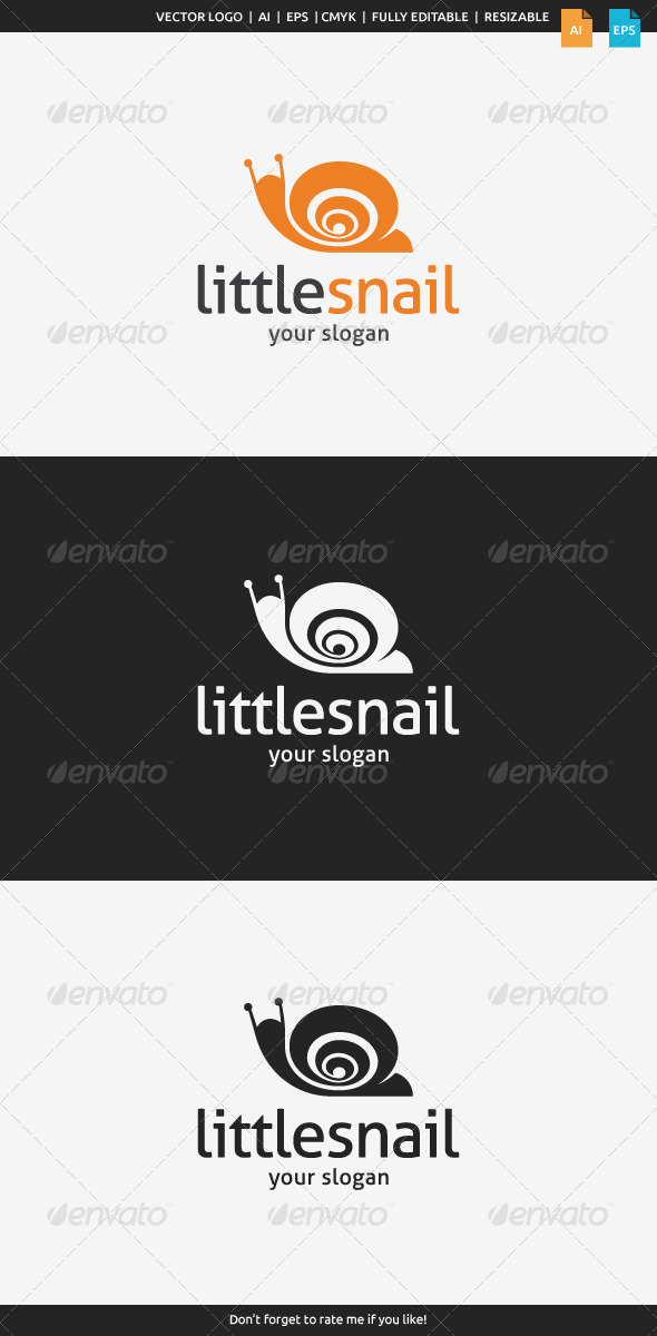 GraphicRiver Little Snail Logo 8124704