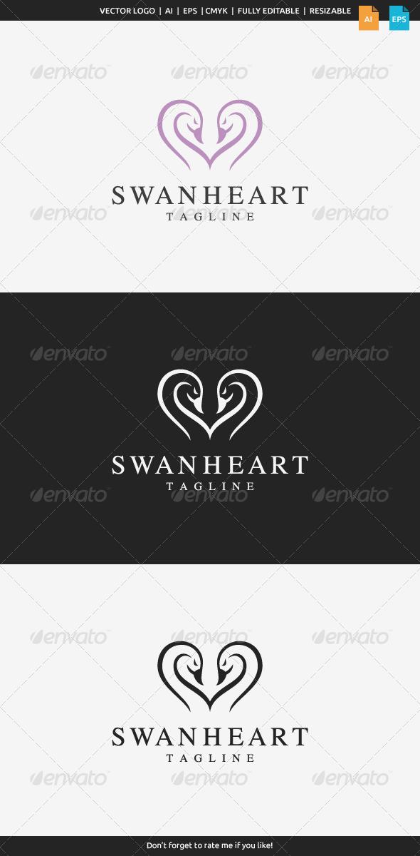 GraphicRiver Swan Heart Logo 8124782