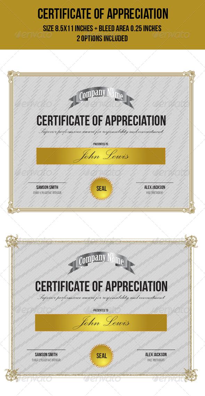 GraphicRiver Certificate of Appreciation 7952899