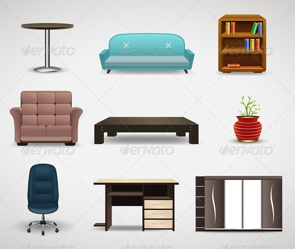 GraphicRiver Furniture Icons 8125151