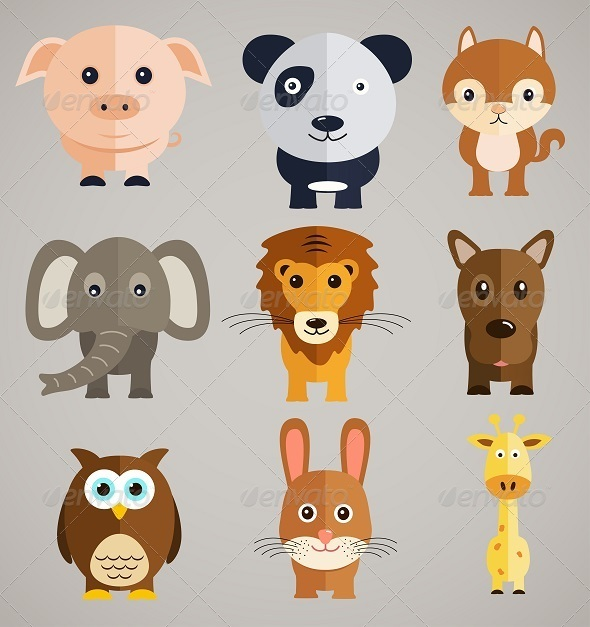 GraphicRiver Cartoon Animals 8125182