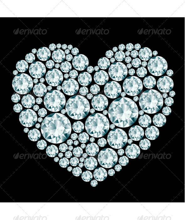 Heart Diamond Composition