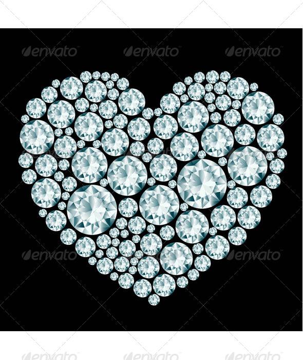 GraphicRiver Heart Diamond Composition 8125221