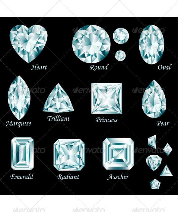 GraphicRiver Diamond Cut Set 8125259