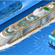 Isometric Cruise Ship in Navigation in Front View - GraphicRiver Item for Sale