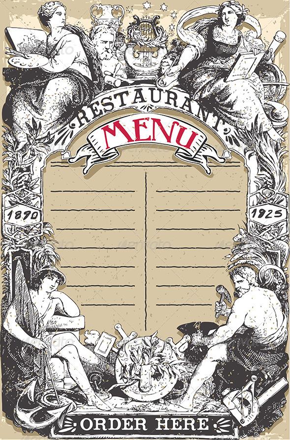 GraphicRiver Vintage Page for Restaurant Menu 8125347