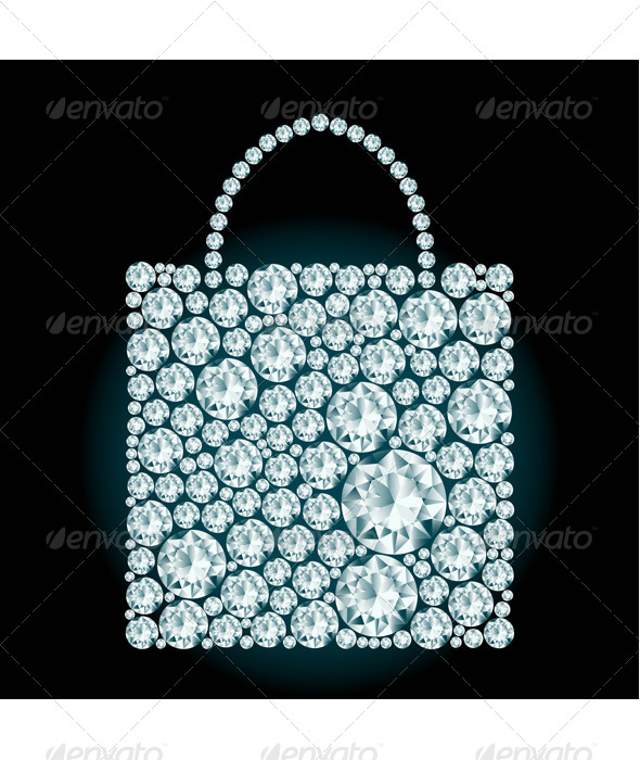 GraphicRiver Shopping Bag made of Diamonds 8125354