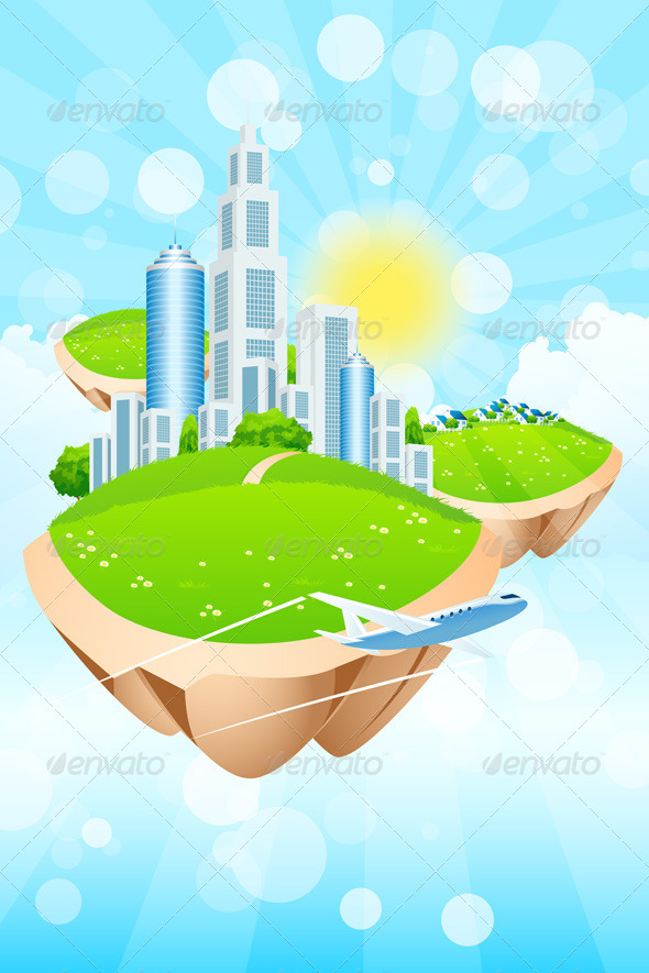 GraphicRiver Business City on Island 8125400