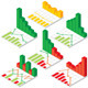 Set of Isometric Chart and Graph Icons - GraphicRiver Item for Sale