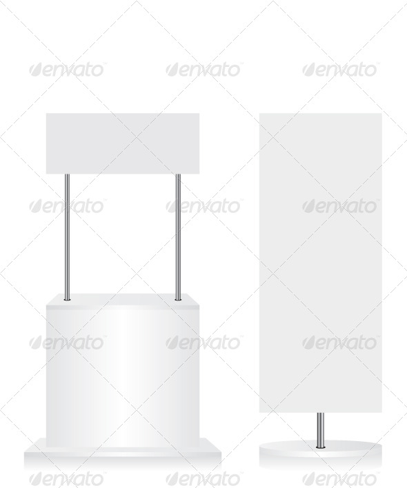 GraphicRiver Promotion Counter and Flag on White Background 8125494