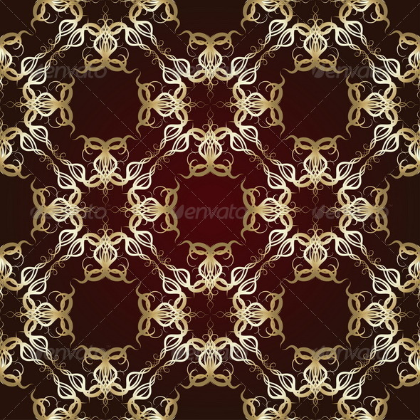 GraphicRiver Seamless Pattern on Maroon Background 8125850