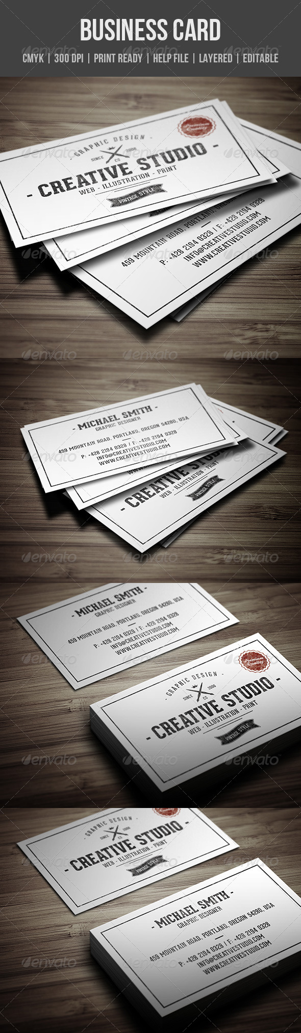 GraphicRiver Vintage Business Card 8125862