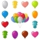Festive Balloons, Set - GraphicRiver Item for Sale