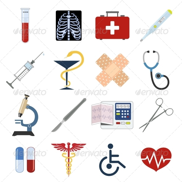 GraphicRiver Medical Icons Set 8126829