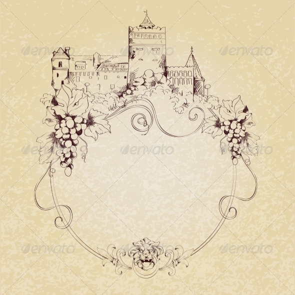 GraphicRiver Sketch Castle Background 8126876