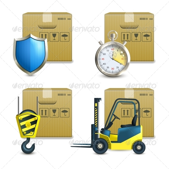 GraphicRiver Logistic Icons Set 8126881