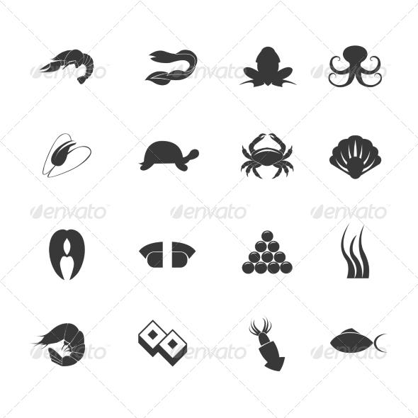 GraphicRiver Seafood Icons Set 8126885