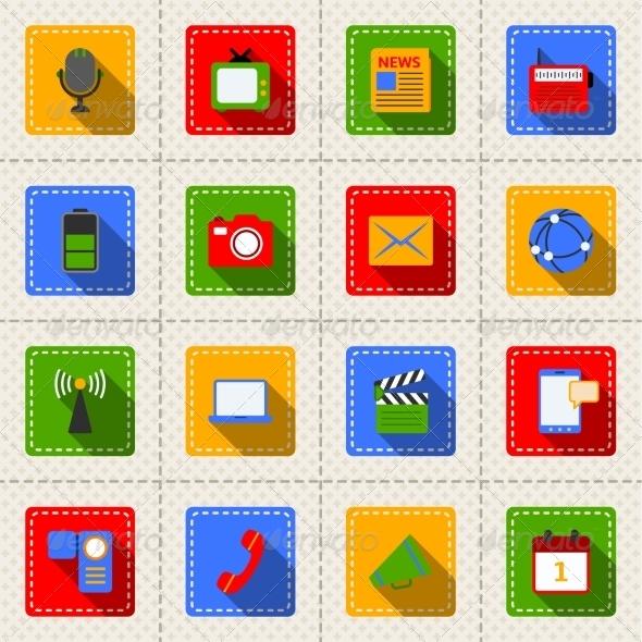 GraphicRiver Media Icons Set 8126890