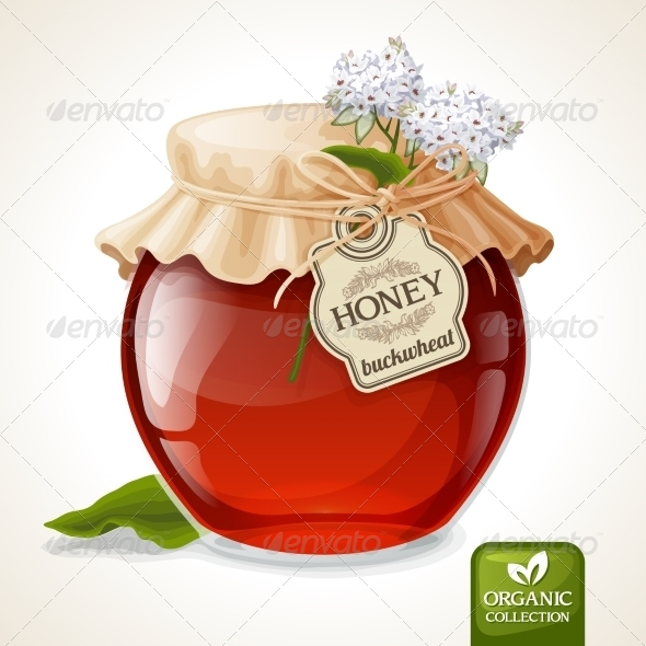 GraphicRiver Buckwheat Honey Jar 8126930
