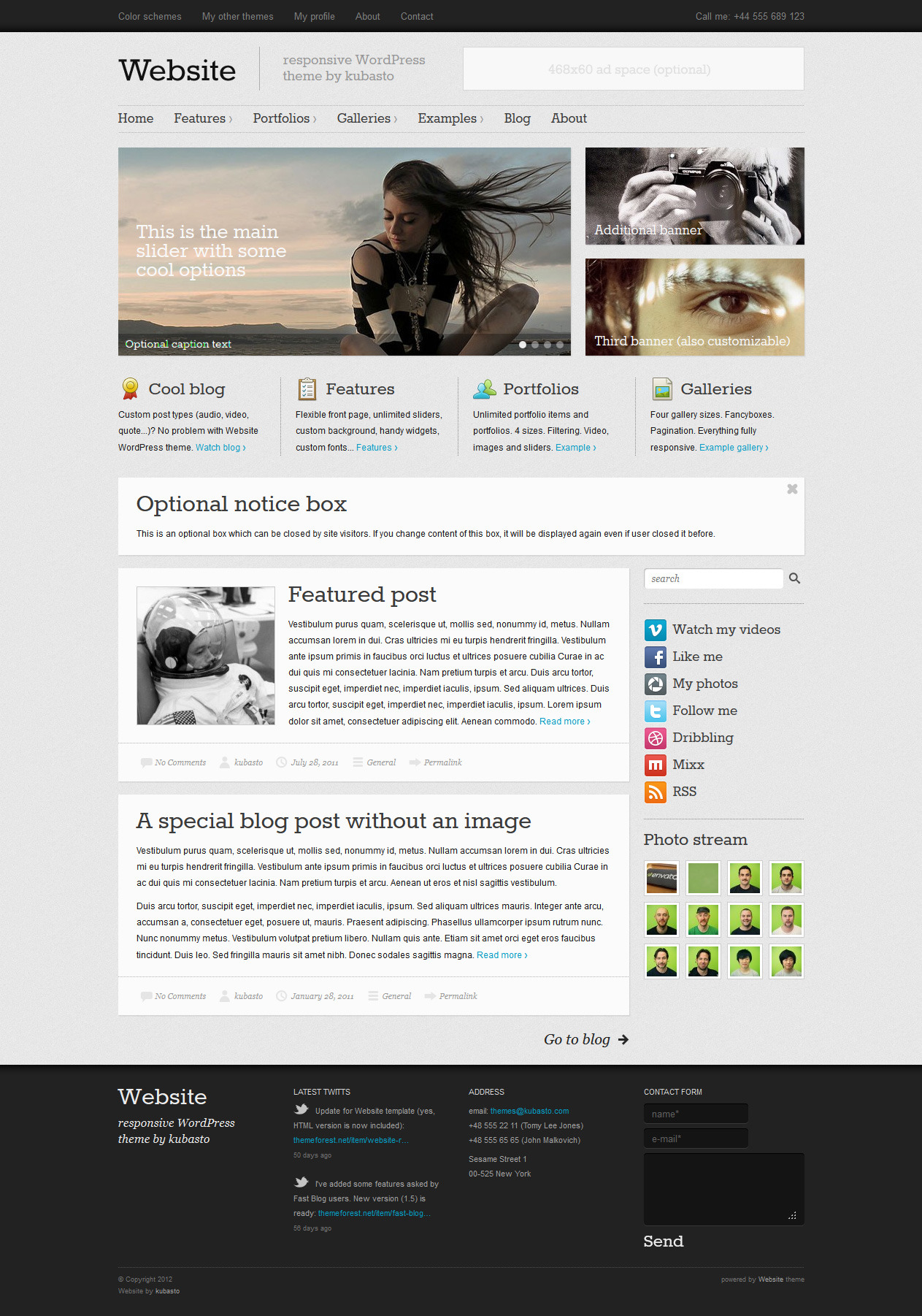 Website - Responsive WordPress Theme