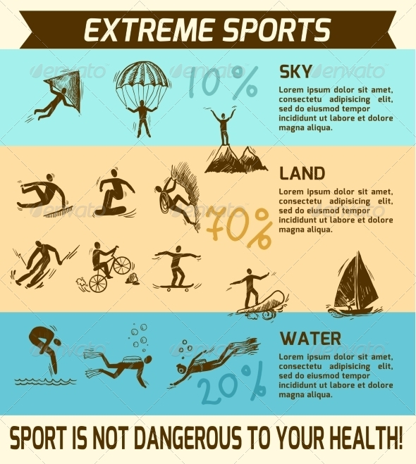 GraphicRiver Extreme Sports Infographic 8126952