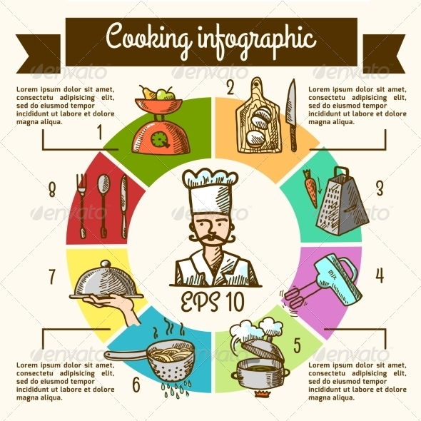 GraphicRiver Cooking Infographic Sketch 8126959