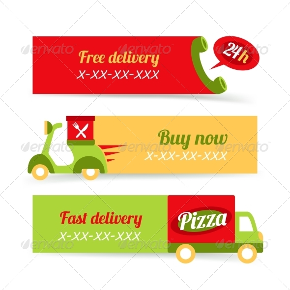 GraphicRiver Pizza Fast Delivery Banners 8126971