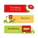 Pizza Fast Delivery Banners - GraphicRiver Item for Sale