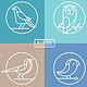 Vector Bird Icons in Outline Style - GraphicRiver Item for Sale