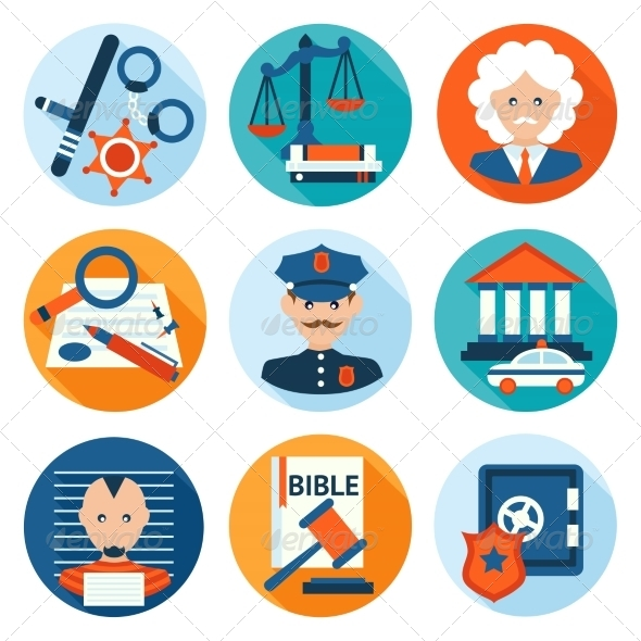 GraphicRiver Law Icons Flat 8126980