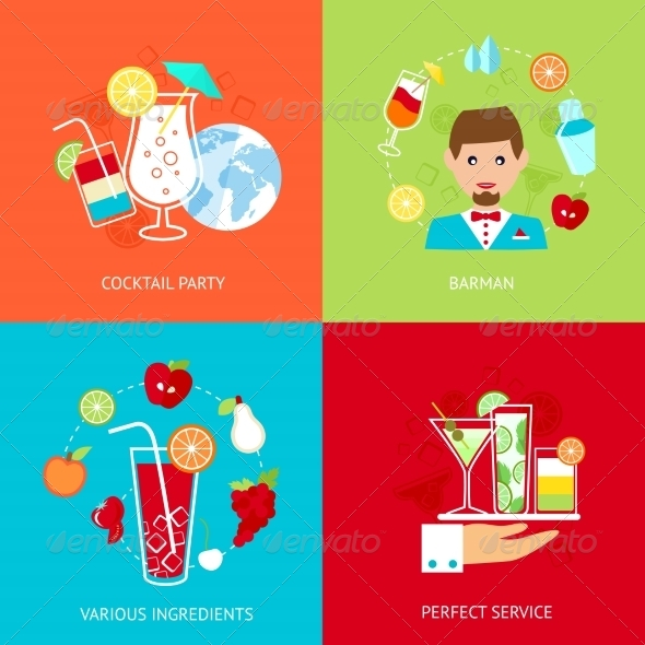GraphicRiver Cocktail Icons Set 8126984