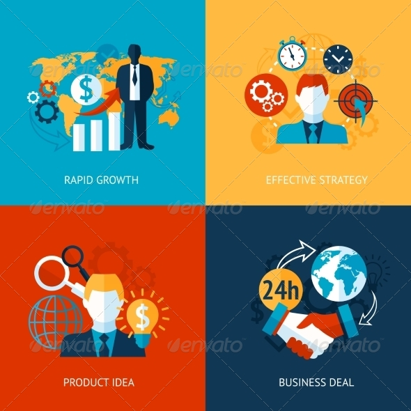 GraphicRiver Business and Management Set 8126995