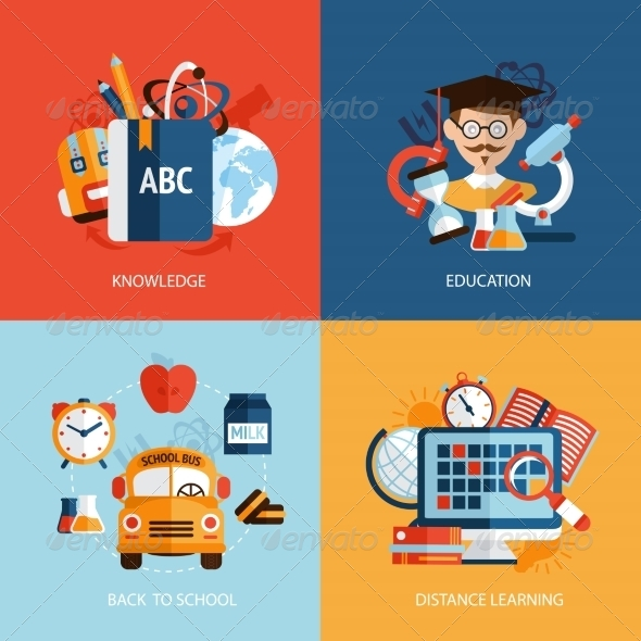 GraphicRiver Education Icons Set 8127001