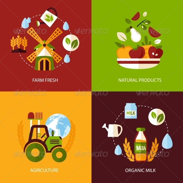GraphicRiver Agriculture Icon Set 8127002