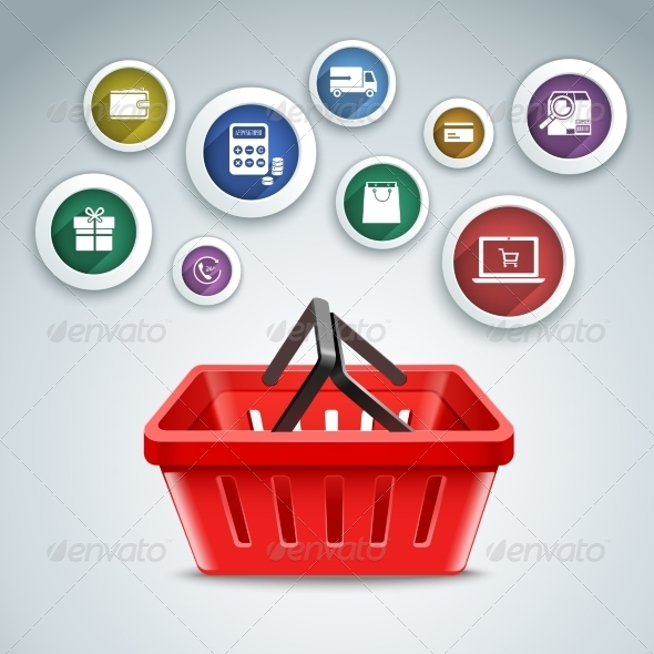 GraphicRiver Shopping Basket Icons 8127014