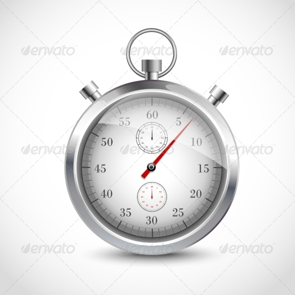 GraphicRiver Realistic Metallic Stopwatch 8127019
