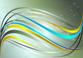 Shiny Yellow and blue wavy Stripes - PhotoDune Item for Sale
