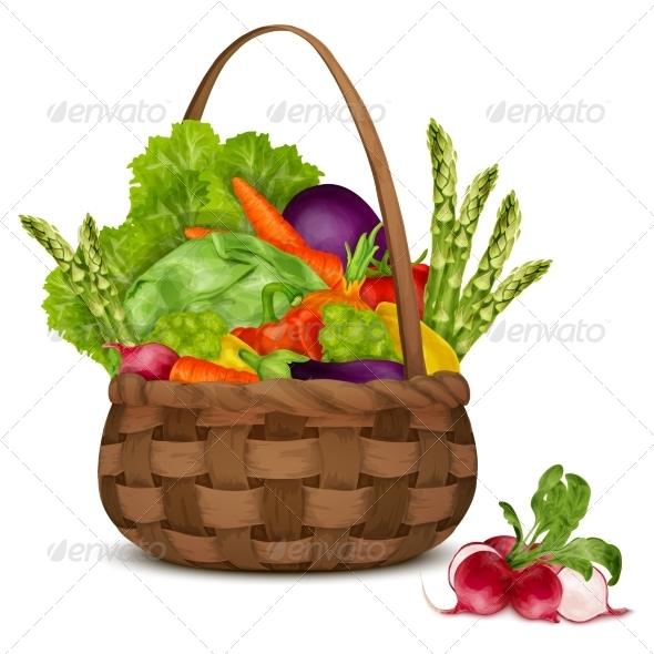 GraphicRiver Vegetables in Basket 8127046