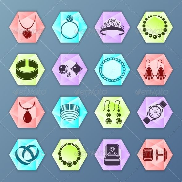 GraphicRiver Jewelry Icon Hexagon 8127066