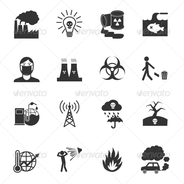 GraphicRiver Pollution Icons Set 8127070