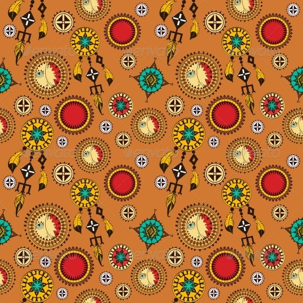 GraphicRiver Tribal Seamless Background 8127082