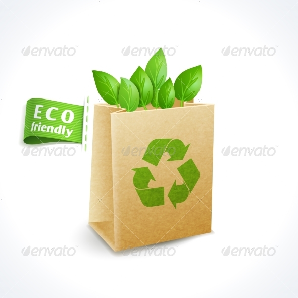 GraphicRiver Ecology Symbol Paper Bag 8127095