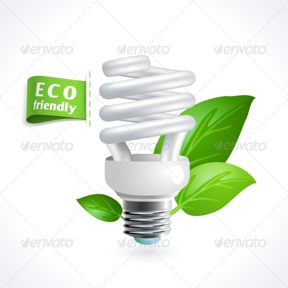 GraphicRiver Ecology Symbol Lightbulb 8127096