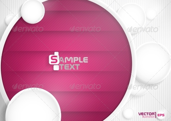 GraphicRiver Abstract Background With White Paper Circles 8127097