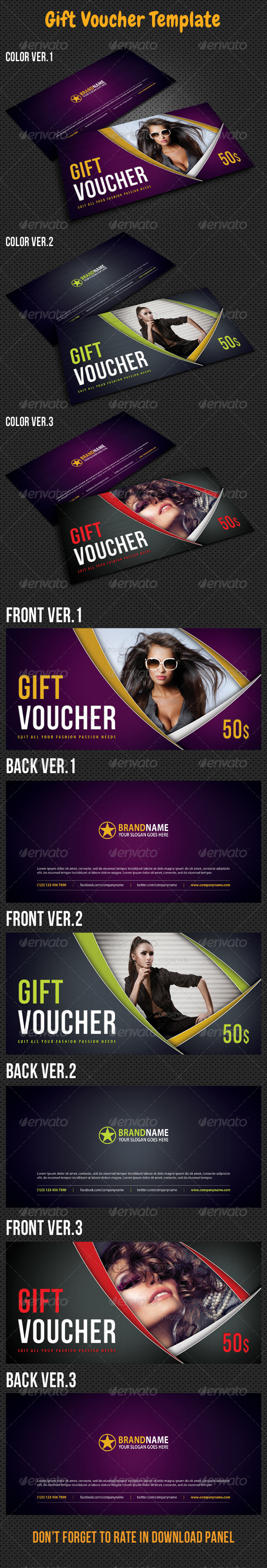 GraphicRiver Gift Voucher V10 8127099